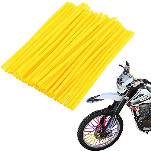 72 piezas Cubre radios moto, protector llantas, funda de cuero, para motocross, bicicleta, Fundas De Radio De Rueda Llantas para Universales Moto Motocros