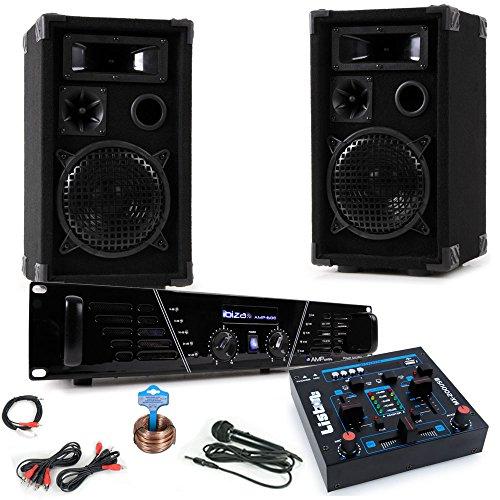 etc-shop PA Karaoke Musik Anlage Verstärker Boxen Mixer Mikrofon Kabelset DJ-Party 2