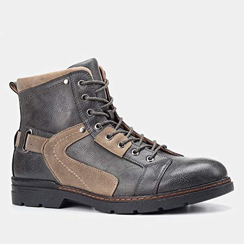 TAOBEGJ Botas Montar En Motocicleta Hombres Botas Montar De Caballero De Vaquero Occidental Botas De Tobillo Negocios De Moda Bota Trabajo Occidental Vintage Zapatos Vestir,9