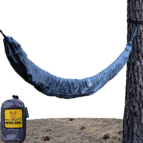 Wise Owl Outfitters Hammock Sleeve – Snakeskin Defender Protective Storage Rain Cover – Waterproof & UV Protection for Hammocks, Rain Fly, Tarps and Camping Gear Accessories