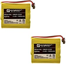 Radio Shack 23-193 Cordless Phone Battery Combo-Pack includes: 2 x SDCP-C322 Batteries