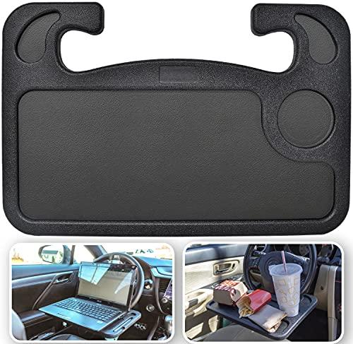 EcoNour 2 in 1 Car Steering Wheel Desk | Steering Wheel Tray | Steering Wheel Lap Desk for Car | Travel Car Accessories | Truck Driver Accessories | Multipurpose Car Steering Wheel Accessories for Car