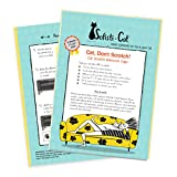 Cat Scratching Deterrent Tape, Scratch Control Aid   Double Sided Cat Training Sticky Tape   Biggest on The Market, 5 XL Sheets 12'x17'