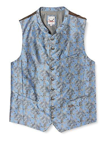 Stockerpoint Herren Weste Levon Trachtenweste, Blau (Blau Blau), X-Large (Herstellergröße: 54)