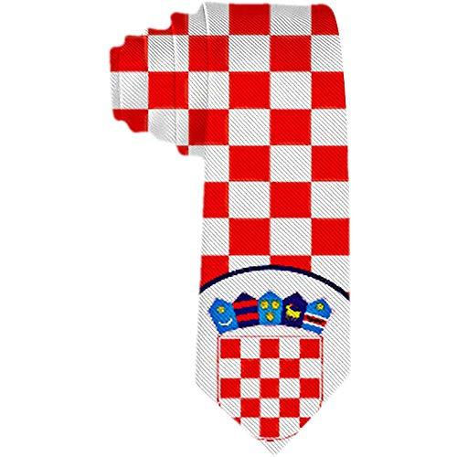 Die klassische gesponnene Krawatten-Krawatte der Männer kroatische rote und weiße Kontrolleur-Krawatten