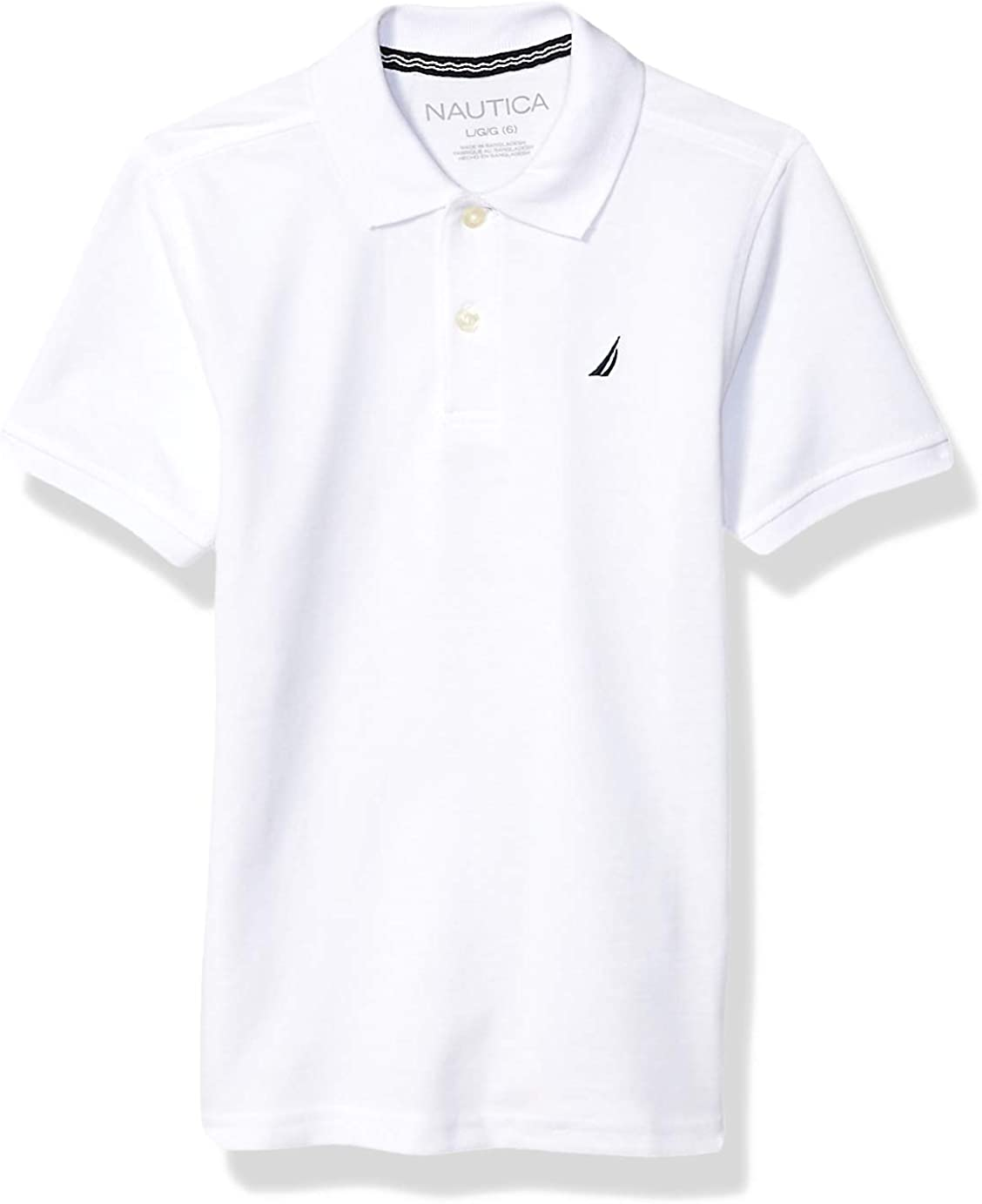 Nautica Max 61% OFF Boys' Short Solid Sleeve Max 52% OFF Polo