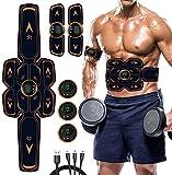 MATEHOM Elettrostimolatore Muscolare, EMS Suscolo Addominale,Ricarica USB ABS Trainer/Toner per...