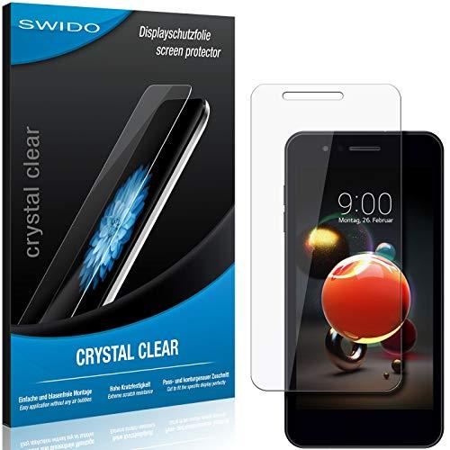 SWIDO Schutzfolie für LG K9 [2 Stück] Kristall-Klar, Hoher Festigkeitgrad, Schutz vor Öl, Staub & Kratzer/Glasfolie, Bildschirmschutz, Bildschirmschutzfolie, Panzerglas-Folie