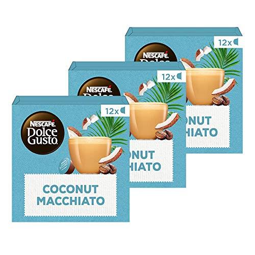 Nescafé Dolce Gusto capsules Coconut Macchiato Vegan – 36 koffiecups – geschikt voor 36 koppen koffie – Dolce Gusto cups