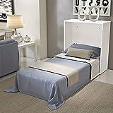 Mueble Cama ahorraespacio con somier y colchón de Estilo Shabby Chic