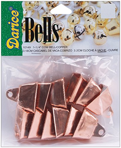 Darice 10149 12-Piece Cow Bell, 1.25-Inch, Copper