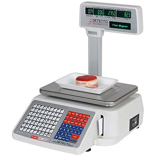 Cardinal Detecto dl1060p 60Lb. Digital Precio Computación escala con impresora y visualización...