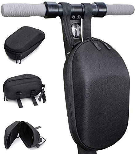 NORYER Hard Shell Waterproof Scooter Storage Bag for Kick Scooters Folding Bike,Electric Scooter Front Hanging Bag Durable EVA Fit for Carring Charger Tools