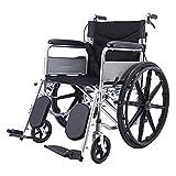 Silla de ruedas Silla de ruedas ultra luz para la silla de transporte plegable de ancianos con swing pierna de descanso 18 '' silla de ruedas de deporte de asiento ergonómico, 22 0LB Capacidad Silla d
