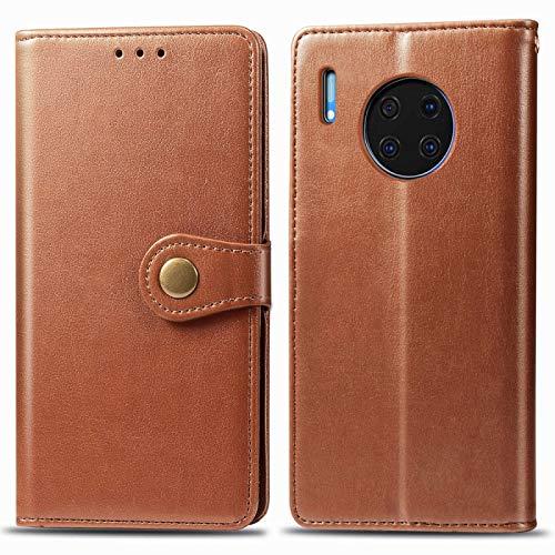 PANCASE Caja Protectora Compatible para Huawei Mate 30 Pro Horizontal Flip Funda de Cuero Sombrero-Prince Litchi Textura con Ranuras Compatible para Tarjetas Accesorios para telefono Celular