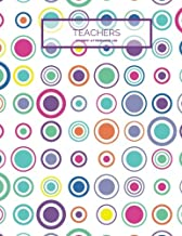 """Teachers Student Attendance Log: Colorful Tracker Notebook For Teachers, Record Attendance, 35 Names 