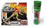 Jurassic World Herrerasaurus Battle Damage Action Figure and Best Brands 12 Assorted Dinosaurs Figurines in Tube Bundle (Total 2 Items)