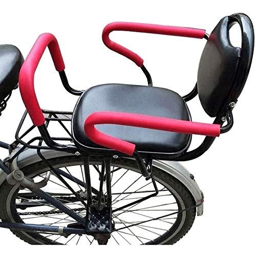 SADWF Asiento de Bicicleta Asiento de Seguridad para Niños, Asiento de Portabebés Montado En La Parte Trasera para Niños Pequeños, Niños Y Niños Bicicleta con Cinturón de Seguridad para Fijación