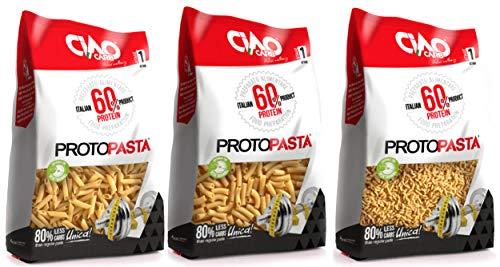 Ciao Carb Protopasta Proteinnudeln 60% -3pak- Reis Tubetti Fussili