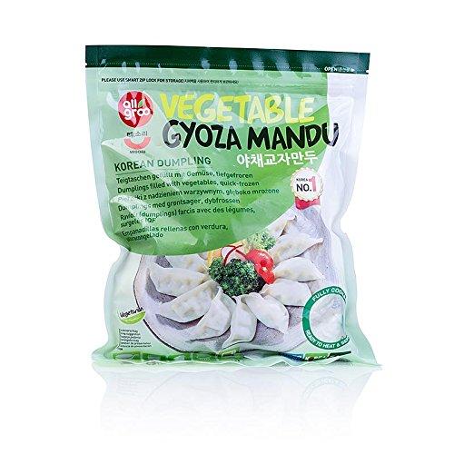 Wan Tan - Gyoza Teigtaschen mit Gemüsefüllung (Tofu, Lauch, Kohl, Soja), TK, 2x540 g, 80x13,5g. insgesamt 1080g.