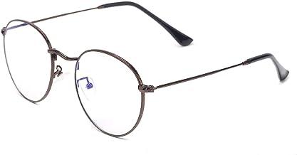 Vintage Small Round Metal Frame Non Prescription Clear Lens Glasses Stylish Unisex Circle Eyeglasses