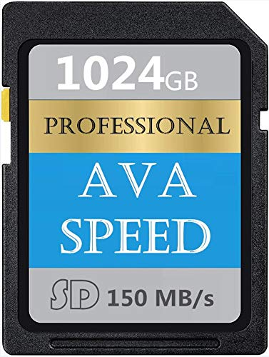 Digital Series - Tarjeta de memoria SD de 1024 GB, memoria SDXC Card, V60, U3, alta velocidad hasta 150 MB/s para cámara de vídeo digital Full HD (1024 GB)
