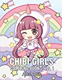 Chibi Girls Coloring Book: For Kids with Cute Lovable Kawaii Characters In Fun Fantasy Anime, Manga Scenes