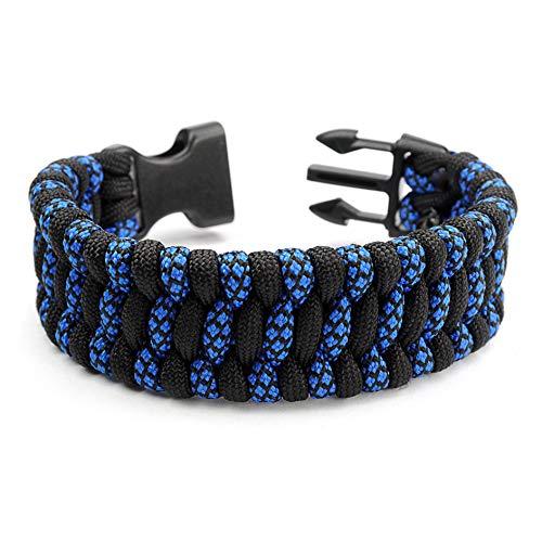 Paracord 550 Bracelet de Survie pour Homme et Femme Taille XL