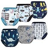 FLYISH DIRECT Pack de 6 pantalones de entrenamiento para niños pequeños, para entrenamiento de bebé, ropa interior para aprender a ir al baño. niños 6 años