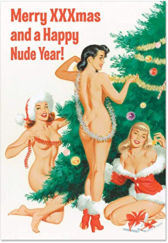 1905'Happy Nude Jahr'–Funny Neues Jahr Grußkarte mit 12,7x 17,8cm Umschlag von Nobleworks