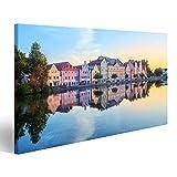 Bild Bilder auf Leinwand Alte Stadt Landshut, Bayern,