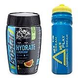 Isostar Hydrate and Perform 1 x 400g + Iron Horse Bidon AD 1 x 650ml - Set (Fresh Grapefruit)