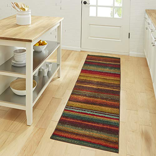 Mohawk Home New Wave Boho Stripe Runner Area Rug, 2'x8', Multi
