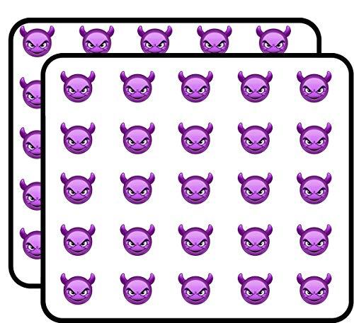 Purple Devil Emoji Sticker for Scrapbooking, Calendars, Arts, Kids DIY Crafts, Album, Bullet Journals 50 Pack