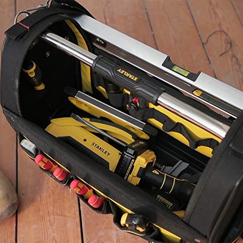 Stanley FatMax Werkzeugtrage, 48x33x22cm, 600 Denier Nylon, wasserdichter Kunststoffboden, ergonomischer Gummigriff, Rahmen stahlverstärkt, verstellbarer Schultergurt, 1-93-951 - 9