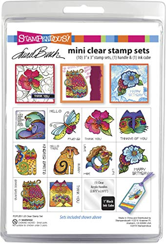 Stampendous Laurel Burch Stamp Mini Clear Set