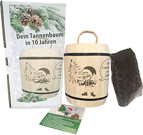KRONLY Nikolaus Geschenk Nordmanntanne Anzuchtset - Wichtelgeschenk Tannenbaum Weihnachtsbaum Julklapp Geschenke