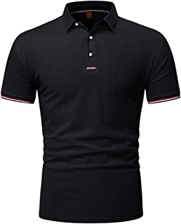 HOSD Camiseta de Manga Corta Hombre 2020 Nueva Solapa Polo Hombre Color sólido