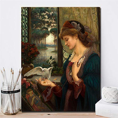 Sanzangtang De Britse schilder Marys Messenger poster en afdrukken canvas schilderij liefhebbers geschenk woningcultuur frameloos