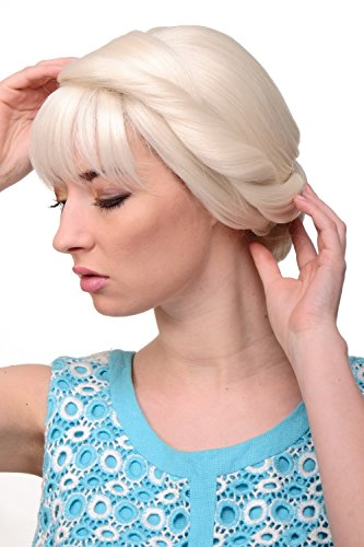 WIG ME UP - Perruque dame fabuleuse traditionelle tresses natte chignon blond platine GFW2030A-60