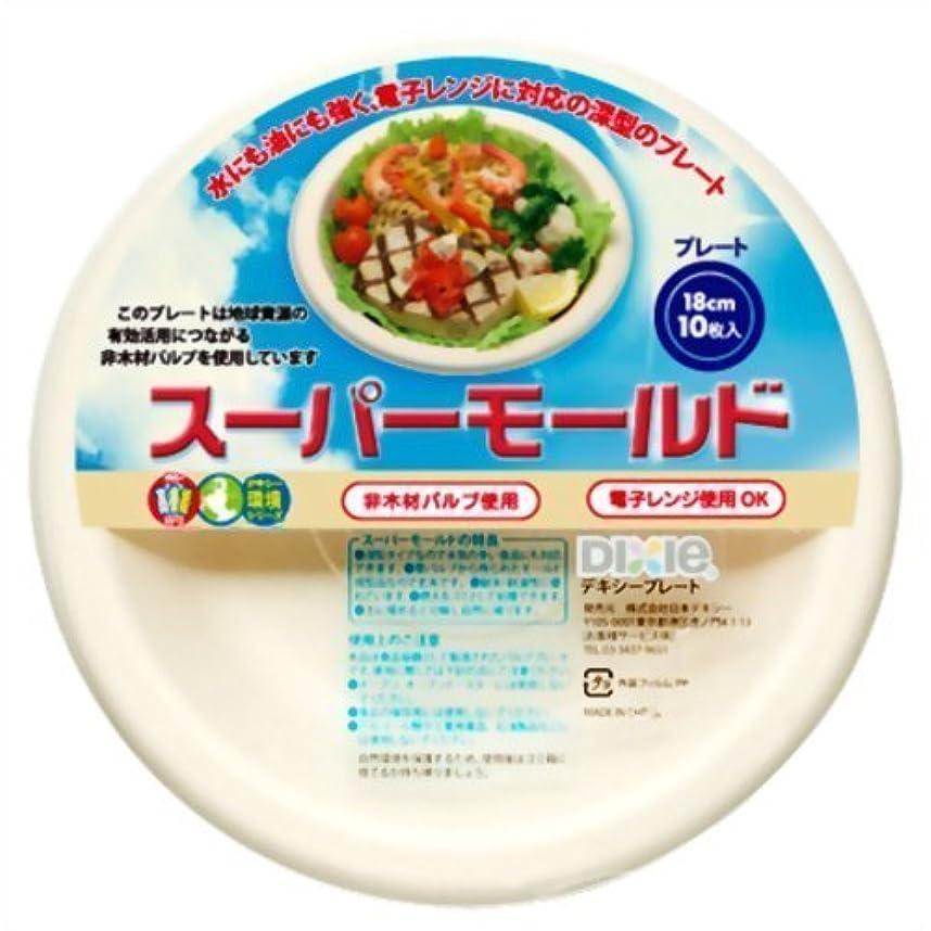 六分儀鼓舞するプラスチック(株)日本デキシー ND ス-パ-モ-ルド プレ-ト18cm 10P