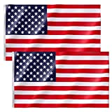 Free Walker American Flag 3x5 FT 2PACKS,Premium Nylon US Flags with Bright Vibrant Color,UV Fade Resistant and Brass Grommets for Indoors and Outdoors,Durable USA Flag for Outside(2xBreeze Style)