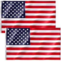 2-Pack 3x5 FT Free Walker American Flag with Bright Vibrant Color and Brass Grommets