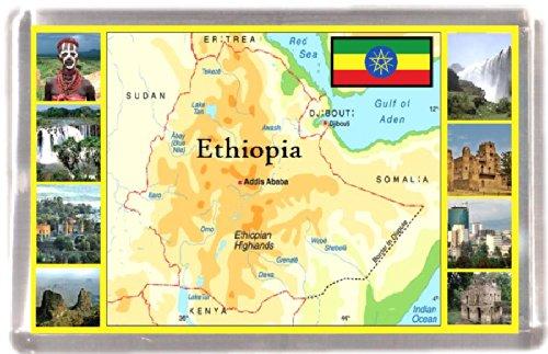 Kühlschrankmagnet Äthiopien Landkarte Geschenk Tourist Souvenir
