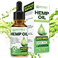 Organic Hemp Oil Extract Drops 300mg - Ultra Premium Pain Relief Anti-Inflammatory, Stress & Anxiety Relief, Joint Support, Sleep Aid, Omega Fatty Acids 3 6 9, Non-GMO Ultra-Pure CO2 Extracted by Nature's Beneficials