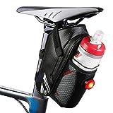Rifny wasserdichte Fahrrad Satteltasche,Fahrradtasche Rahmentasche Mountainbike Bag mit Rücklichthalter und reflektierende Elementefür Fahrrad - Ideal für...