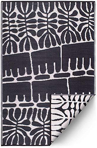 FAB HAB Serowe - Black Alfombra/tapete para Interiores y Exteriores (90 cm x 150 cm)