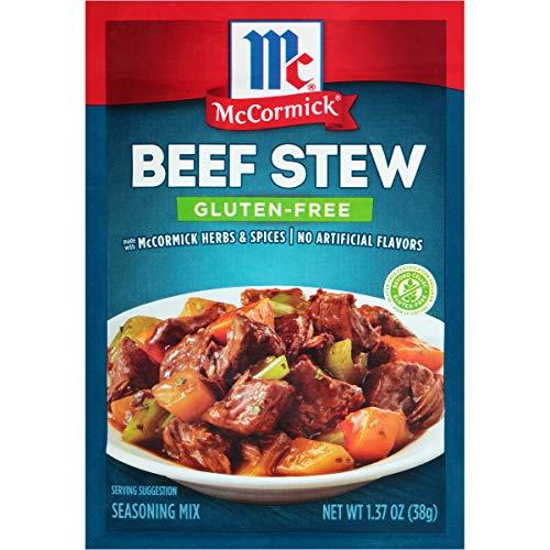 McCormick Gluten Free Beef Stew Seasoning Mix, 1.37 oz (Pack of 12)