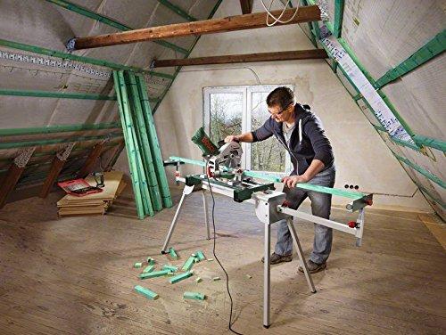 Bosch DIY Kapp- und Gehrungssäge PCM 8, Arbeitsklemme, Kreissägeblatt Optiline Wood, Staubbeutel, Karton (1200 W, Kreissägeblatt Nenn-Ø  216 mm) - 3