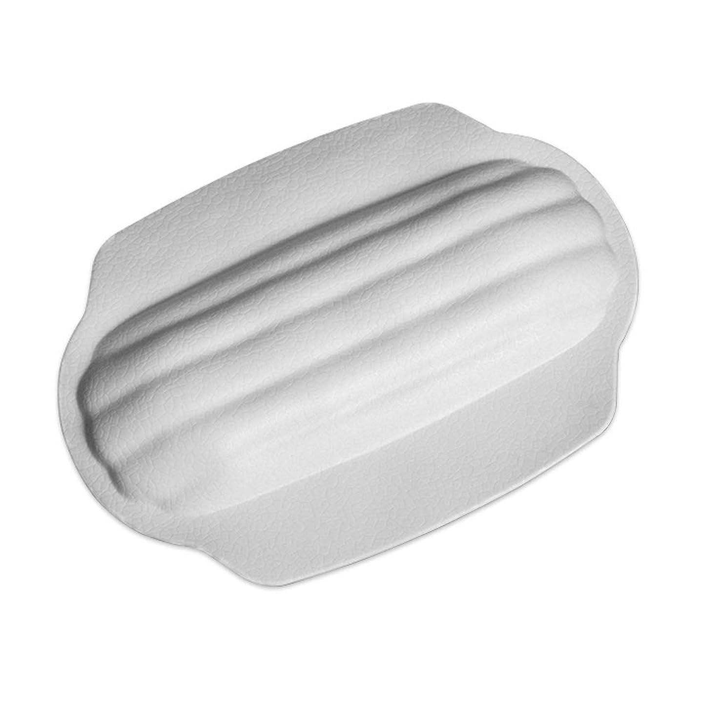 崇拝します診療所自発サクションカップ付き防水滑り止めスパ枕厚めユニバーサルバスタブ枕バスタブと抗菌性